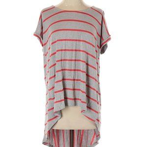 PURE+GOOD Anthro Striped Oversized Tail Blouse